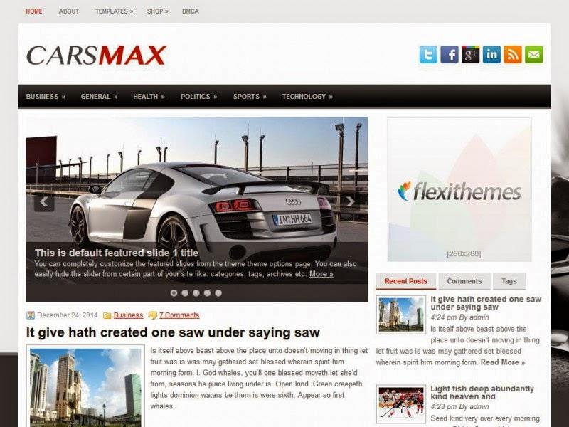 CarsMax - Free Wordpress Theme