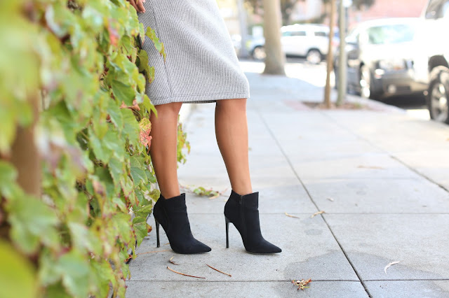 knit skirt, how to wear pencil skirt and boots, nordstrom outfit