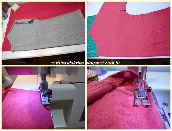 blusa de malha fácil