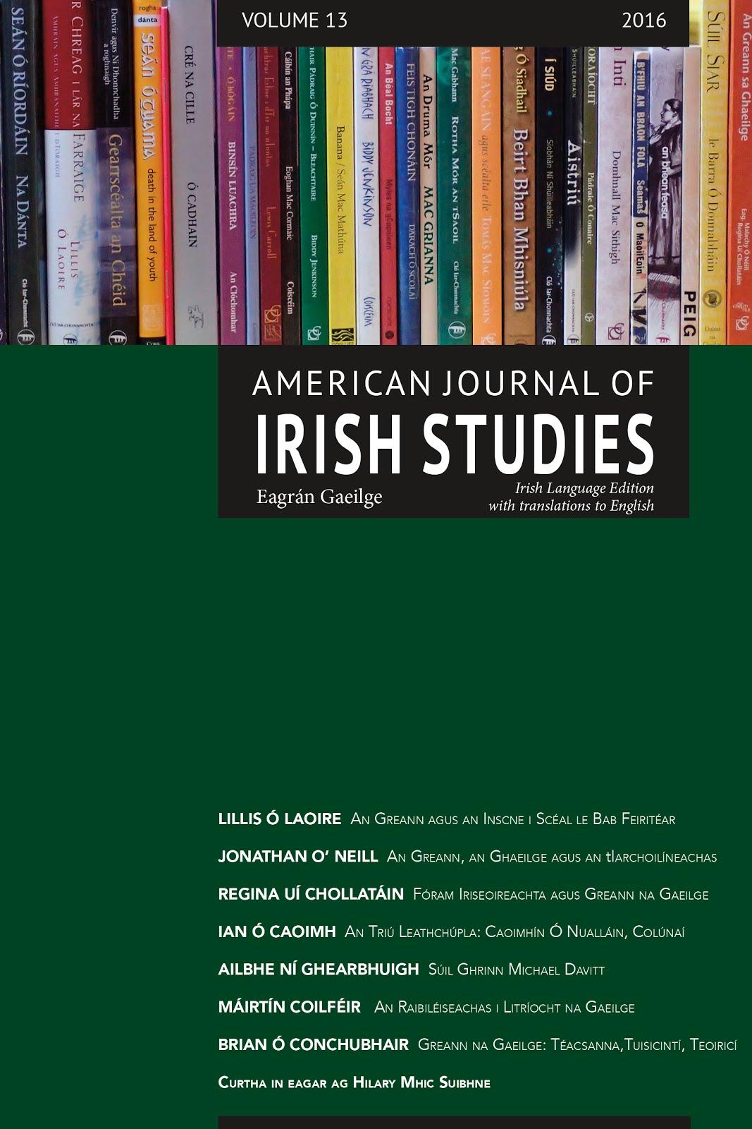 American Journal of Irish Studies. Eagrán Gaeilge