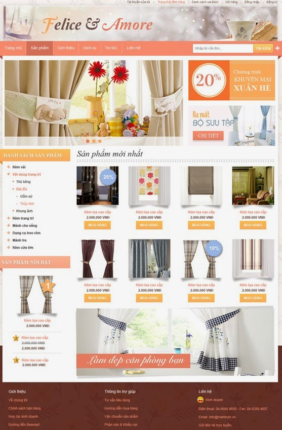 thiết kế web bán hàng quần áo giá rẻ