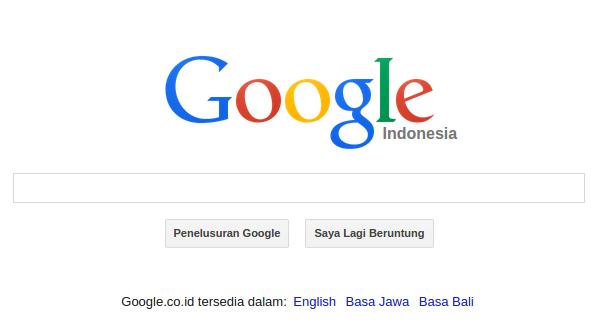 Contoh Screenshot Mesin pencari Google