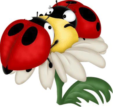 mariquitas en flor para imprimir