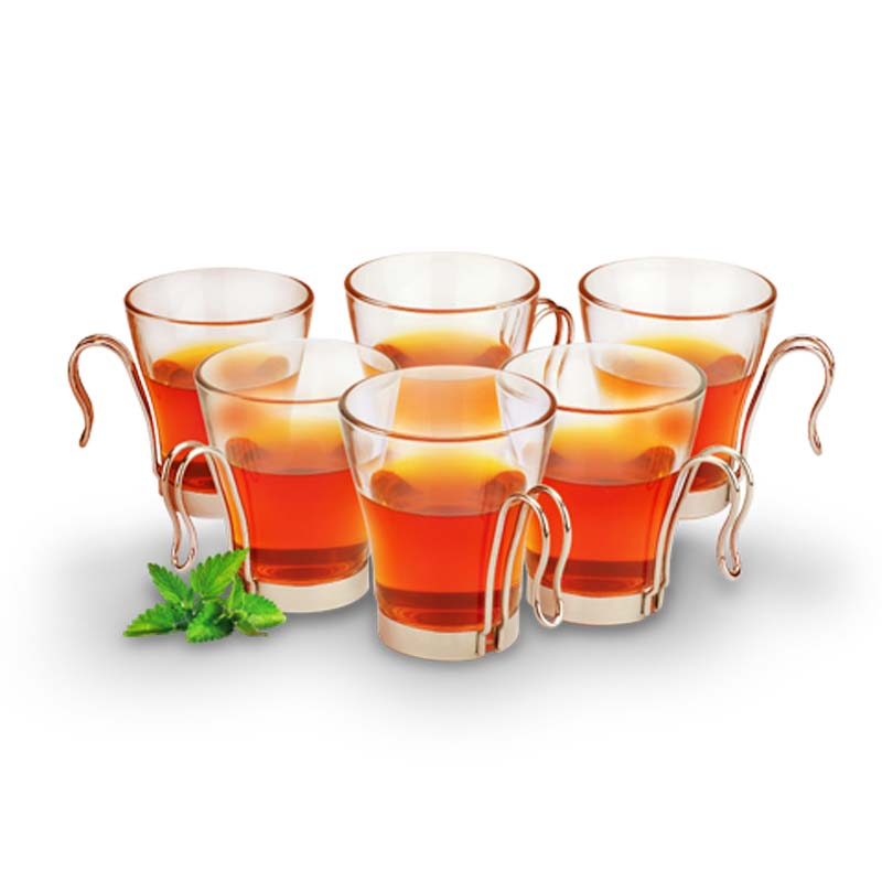 OX-84TC 6Pcs Master Tea Cup Set Oxone - Gelas Kaca