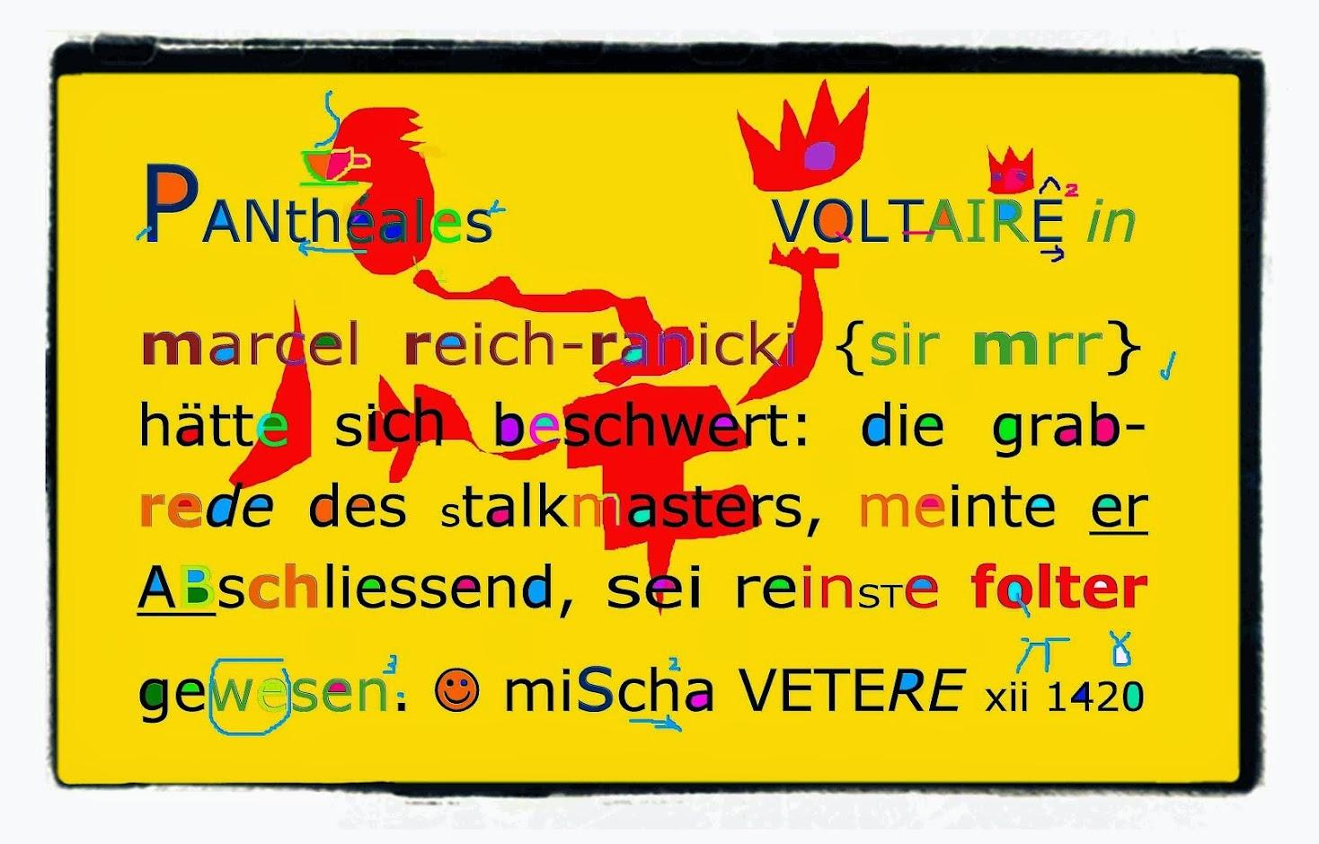 joachim gauck gottschalk marcel reich-ranicki DIE GEISTIGE REVOLUTION mischa vetere andrew VOLTAIRE