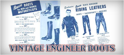 Vintage Engineer Boots