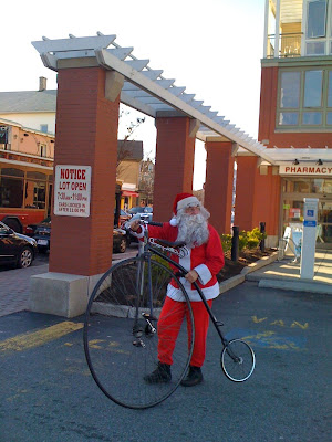 Santa and His Unicycle