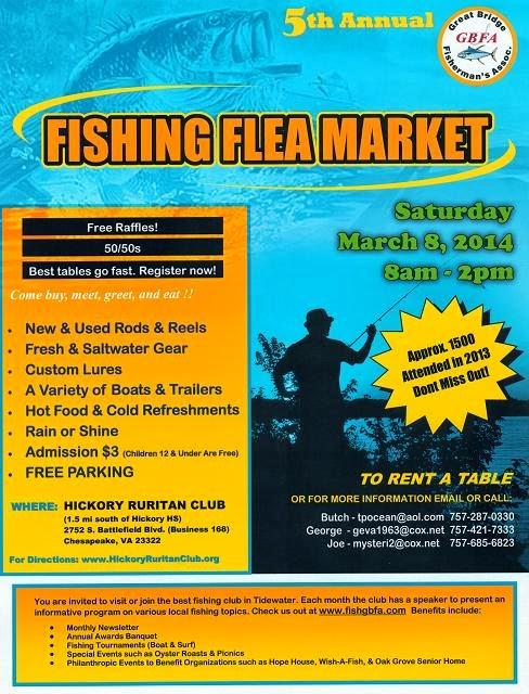 Kayak fishing virginia beach gbfa fishing flea market for Fishing flea market near me