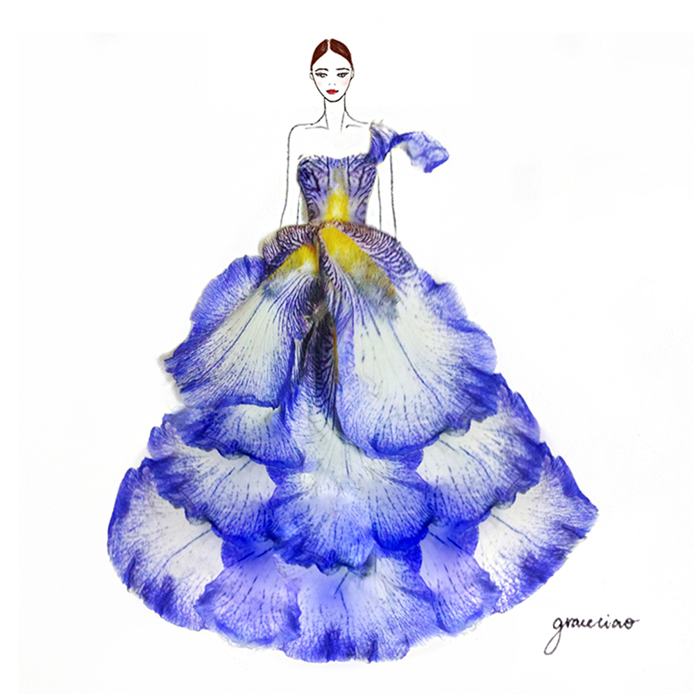 23-Violet-Iris-Nature-and-Grace-Ciao-Design-and-Draw-Dresses-with-Petals-www-designstack-co