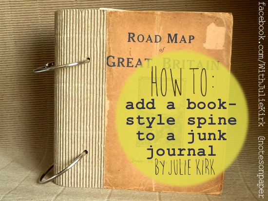 notes on paper how to add a book style spine to a junk journal
