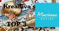 """TOP-3 Marianne Design Krea Divas op 10-12 2017 (#40) """"Sneeuw en ijs"""""""