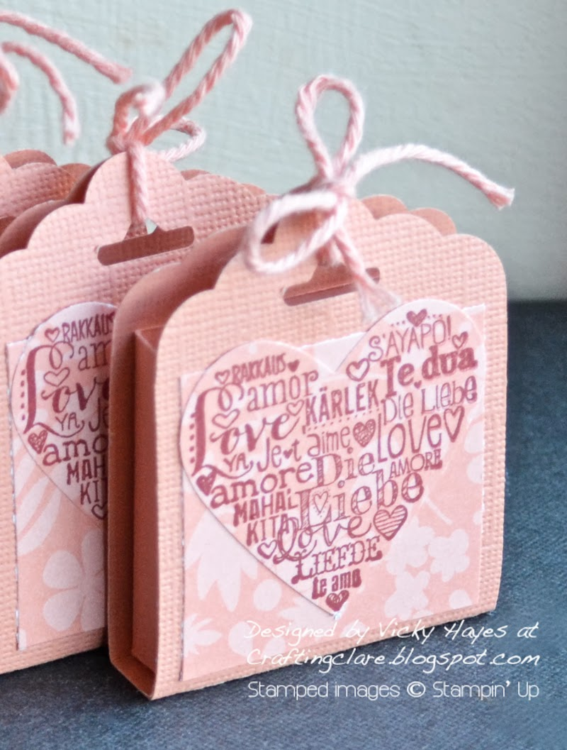 Crafting Clare makes gifts with Scalloped Tag Topper punch from Stampin Up