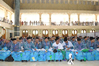 pemberangakatan 450 jamaah calon haji asal kabupaten tangerang