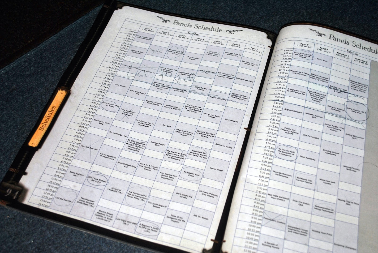 Connecticon 2013 saturday panel schedule