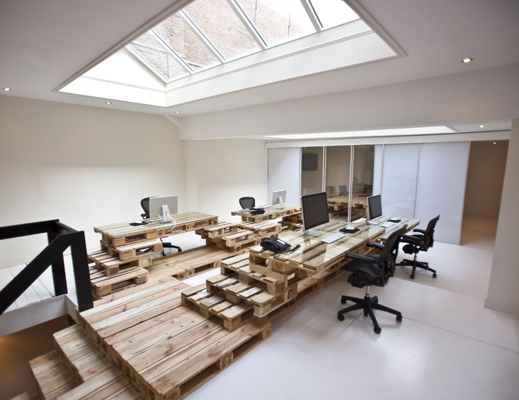ad agency surprising office wood pallet office furniture ad agency office design