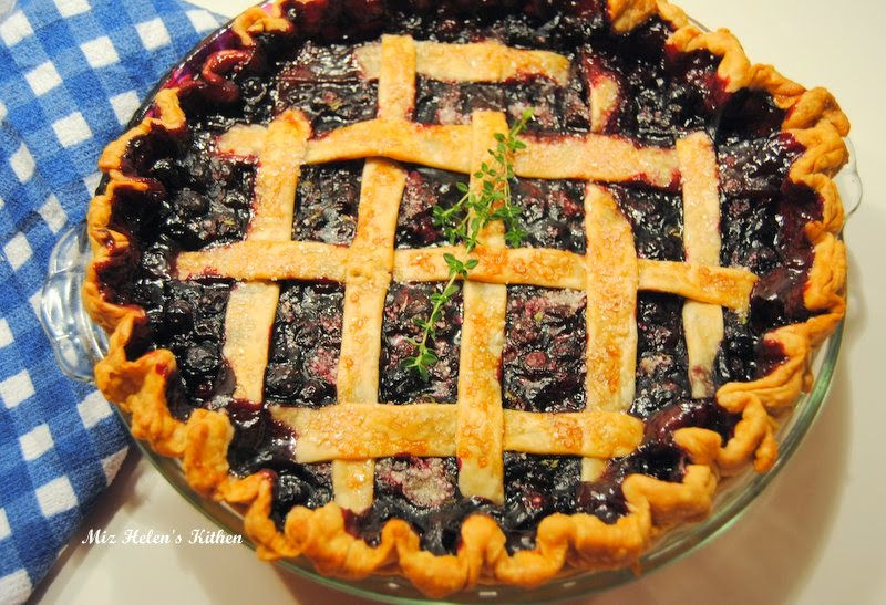 Blueberry Thyme Pie at Miz Helen's Country Cottage