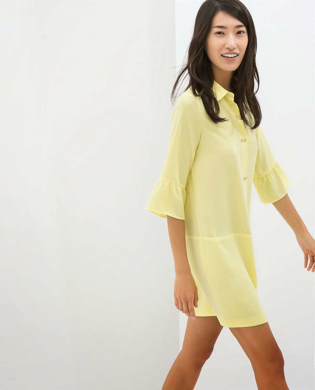 Dress yellow, Zara, street style, fashion style, vestido