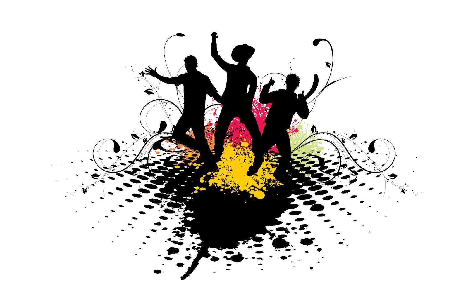 Dancing shadows on music wallpaper ~ The Wallpaper Database