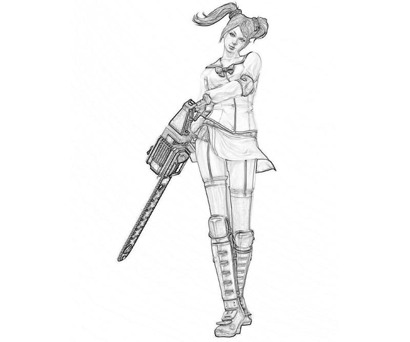 lollypop-chainsaw-juliet-maid-coloring-pages