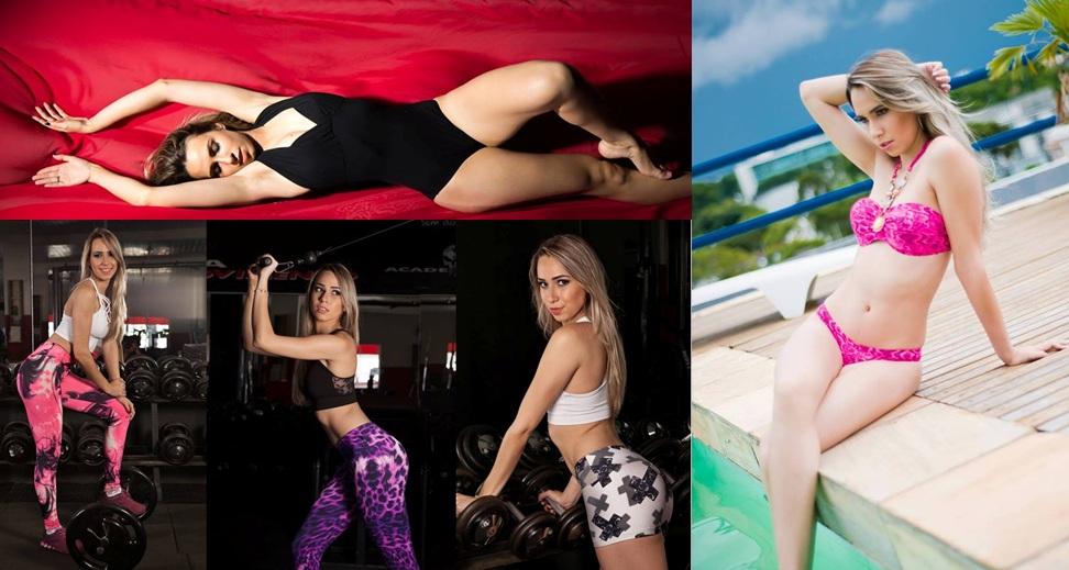 Modelo que é estudante de nutrição malha apenas uma hora por dia para manter o corpo em forma, o qu