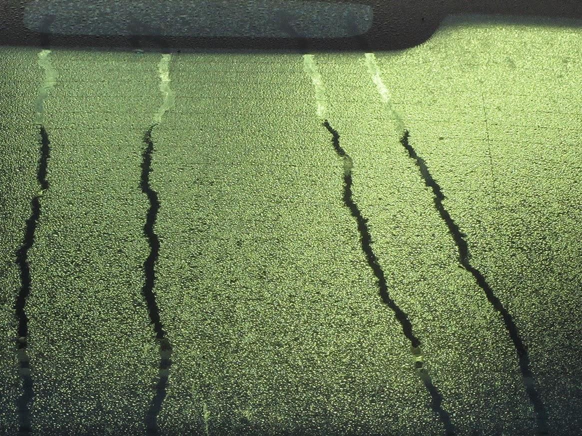 four tracks of drops