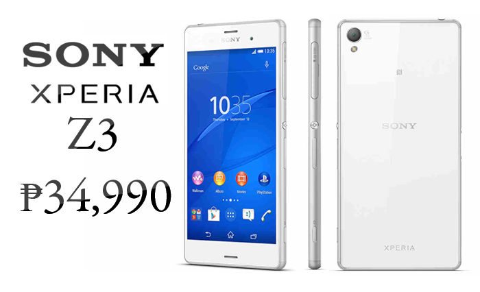 His sony xperia z3 price in the philippines previously