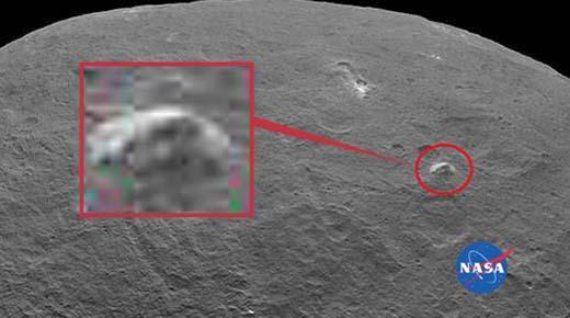 Pirámide gigante en Ceres y un avión espia secreto en la Luna