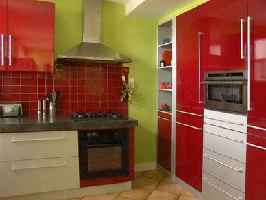 Cuisine vert - Deco cuisine jaune et rouge ...