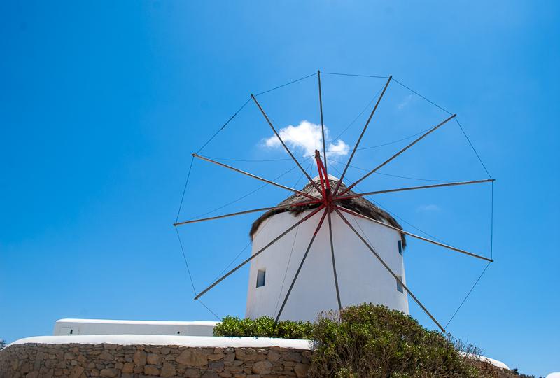 mykonos town windmils