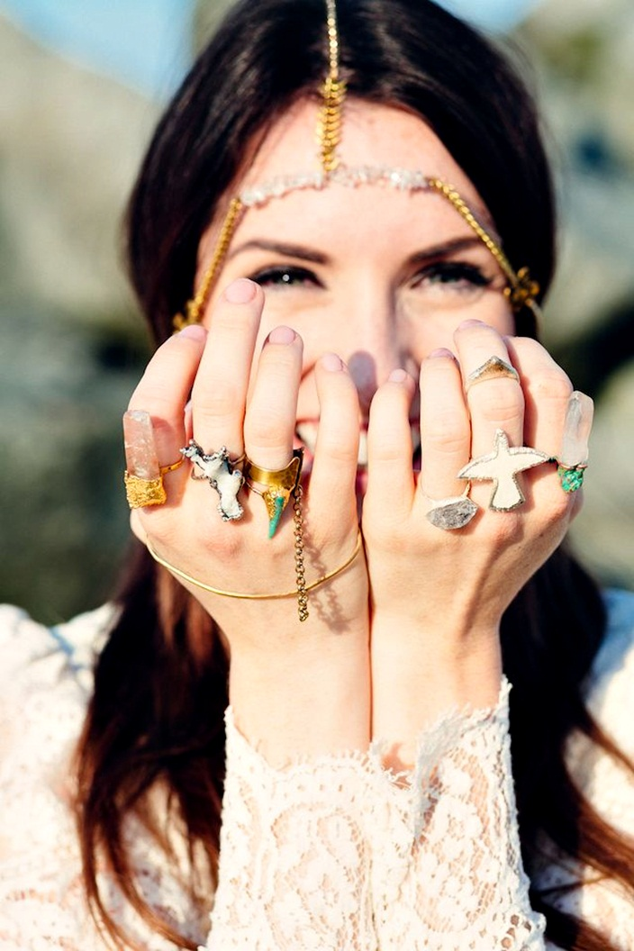 Your Definitive Guide To Stacking Jewelry, how to wear lost of rings and bracelets at once