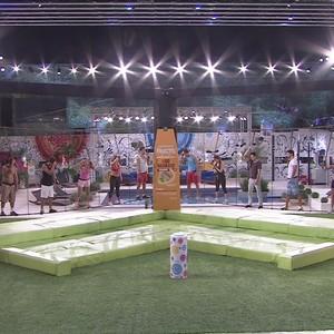 Cenário da Prova do Líder (Foto: Reprodução/ TV Globo)