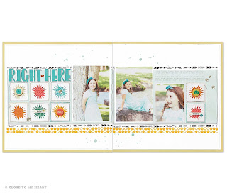 CTMH Washi Tape On Scrapbook Layout