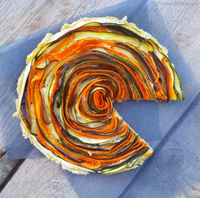 Tarta spiralata cu legume