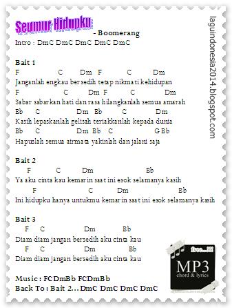 Chord Guitar - Seumur Hidupku - Boomerang