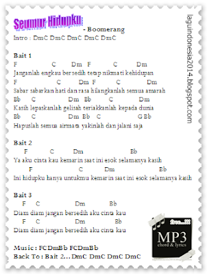 DONWLOAD MP3 LAGU INDONESIA GRATIS + LYRICS + CHORD