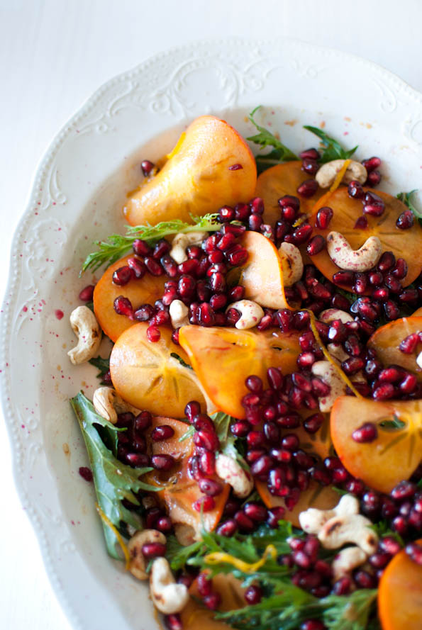 Scandi Home: Mizuna, persimmon and pomegranate salad with orange ...