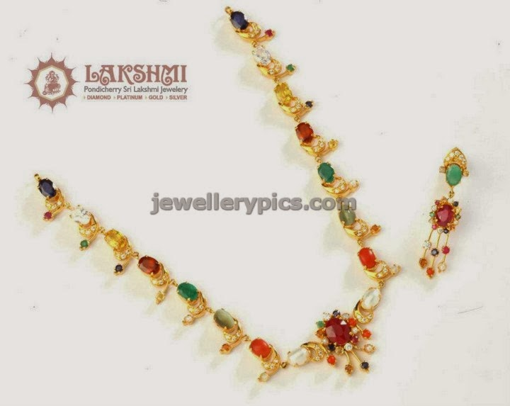 navaratna set from sri pondicherry laxmi jewellers