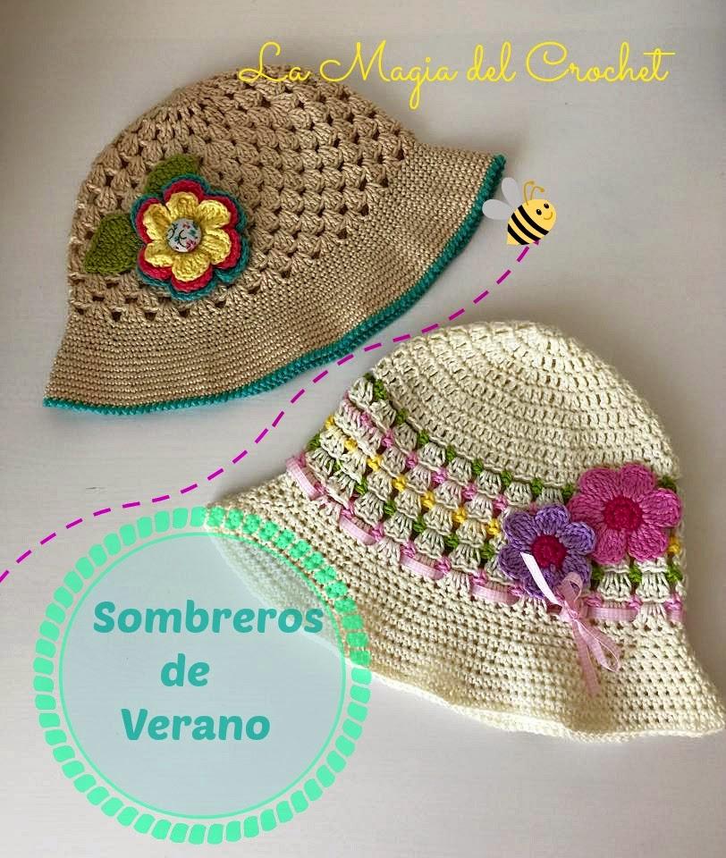 Vistoso Patrón De Crochet Para Sirve El Sombrero Embellecimiento ...