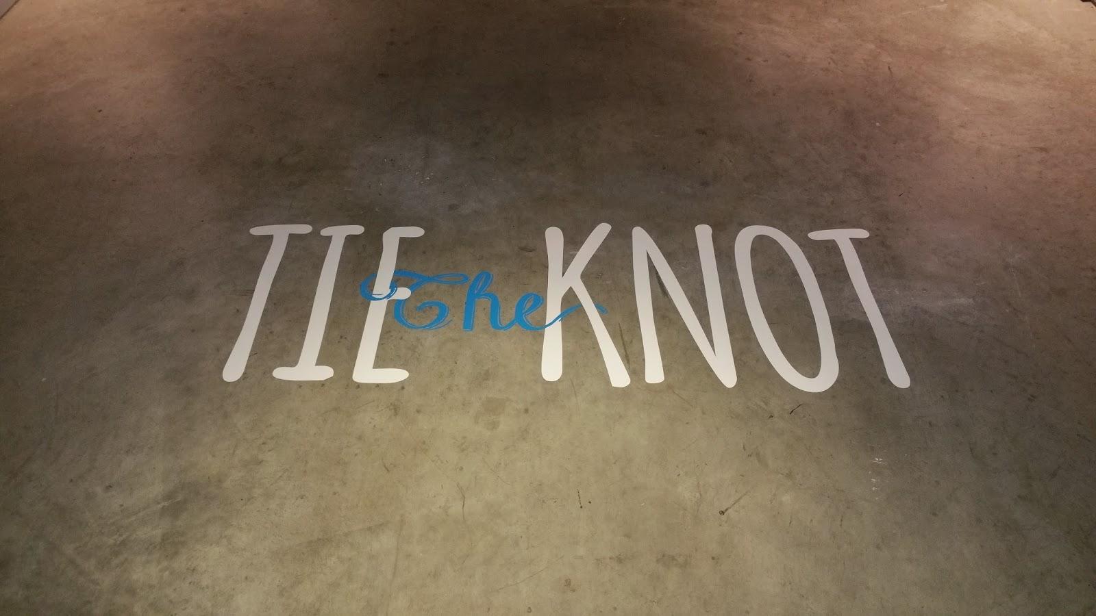 Tie The Knot Vinyl Floor Decal