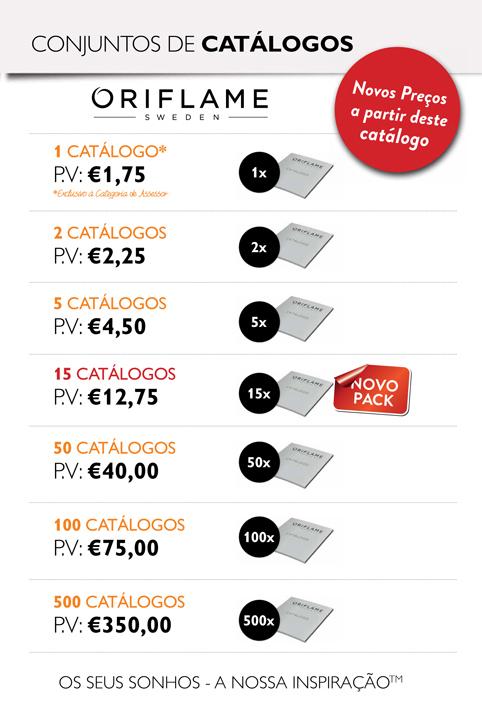 Conjuntos de Catálogos Oriflame - Novos Preços