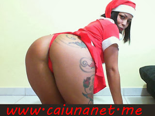 Ensaio de Natal da Linda Morena Stripper virtual