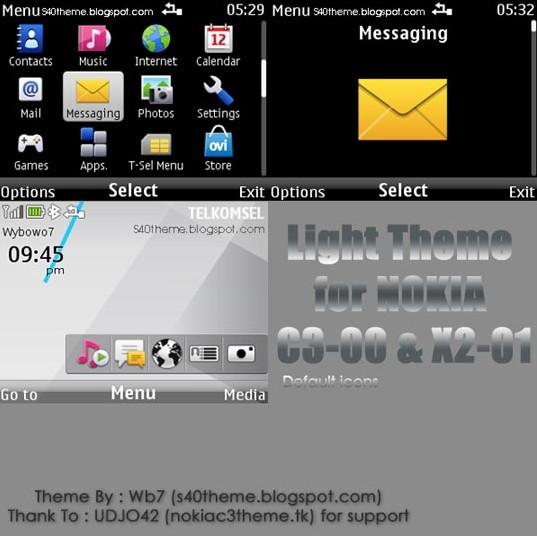 Light (Def) theme for Nokia C3 & X2-01