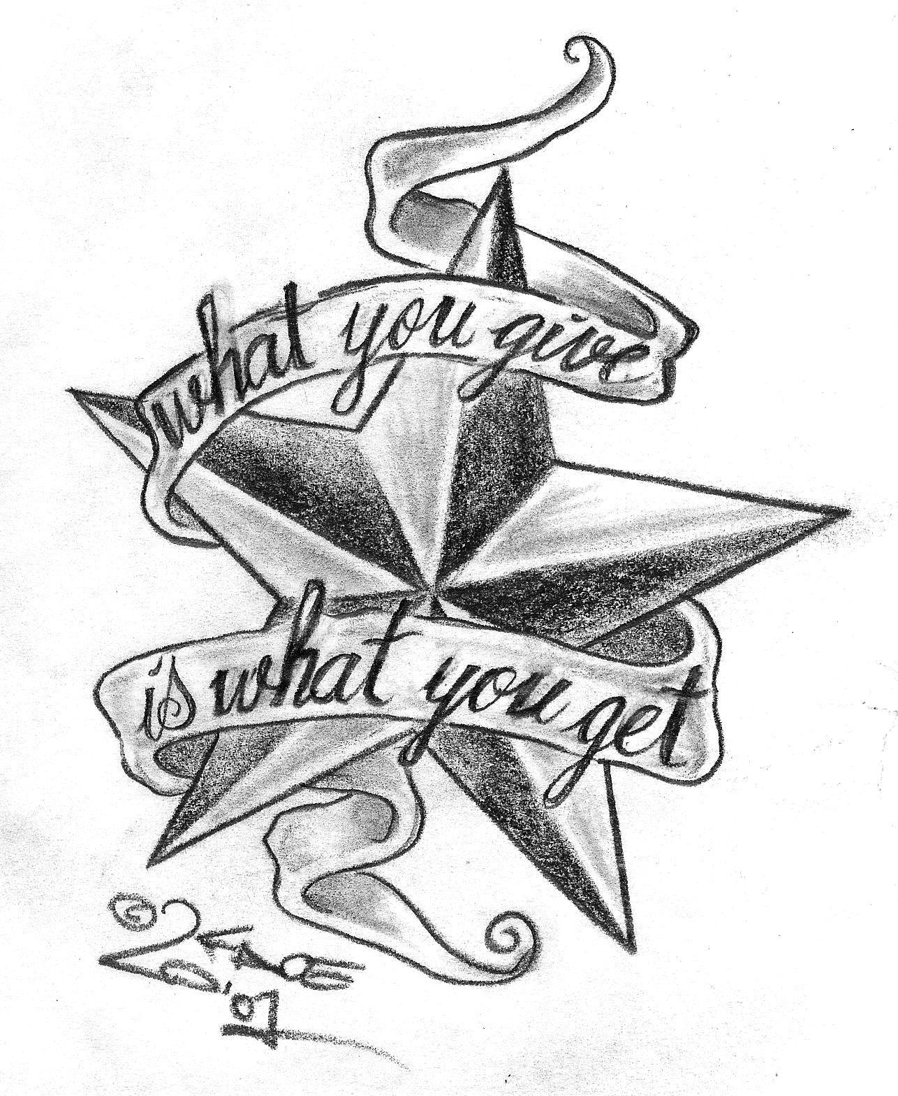 tatuajes diseños de la estrella