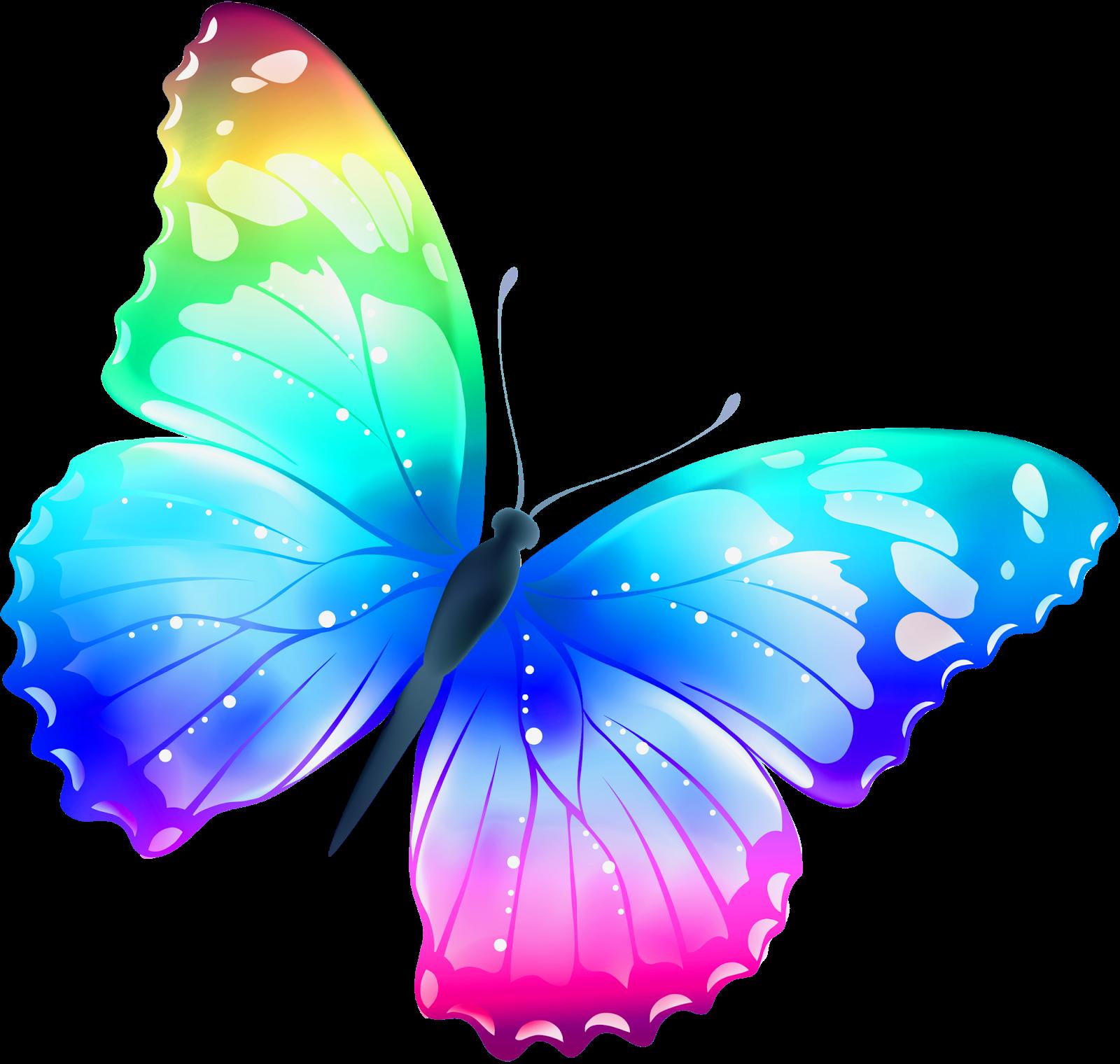 Imagenes bellisimas 3 Large_Transparent_Multi_Color_Butterfly_PNG_Clipart