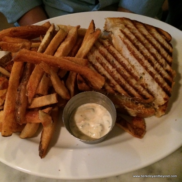 grilled cheese at Hundred Acres restaurant in SoHo NYC
