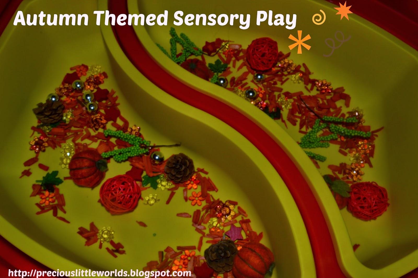autumn themed sensory play