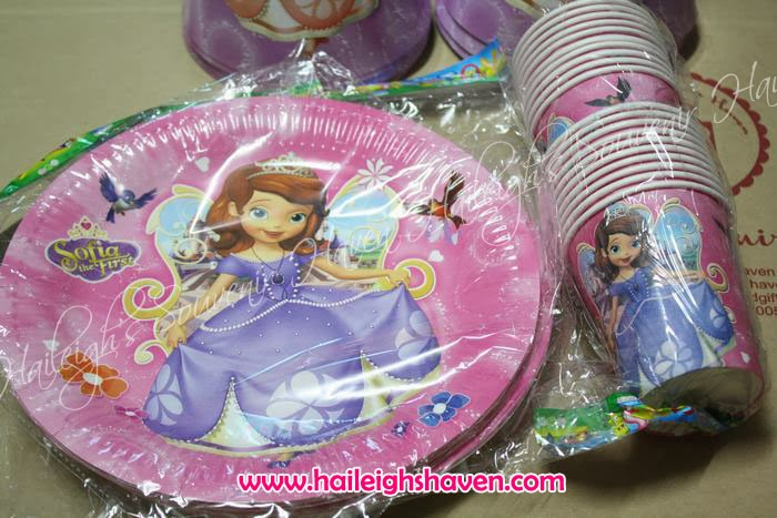 FOIL BALLOONS LOOT BAGS FLAG BANNERS COLORING BOOKS PAPER PLATES PAPER CUPS PARTY HATS LASER STICKERS CAKE TOPPERS & SOFIA THE FIRST: KAREN C\u0027S ORDERS   Haileigh\u0027s Souvenir Haven
