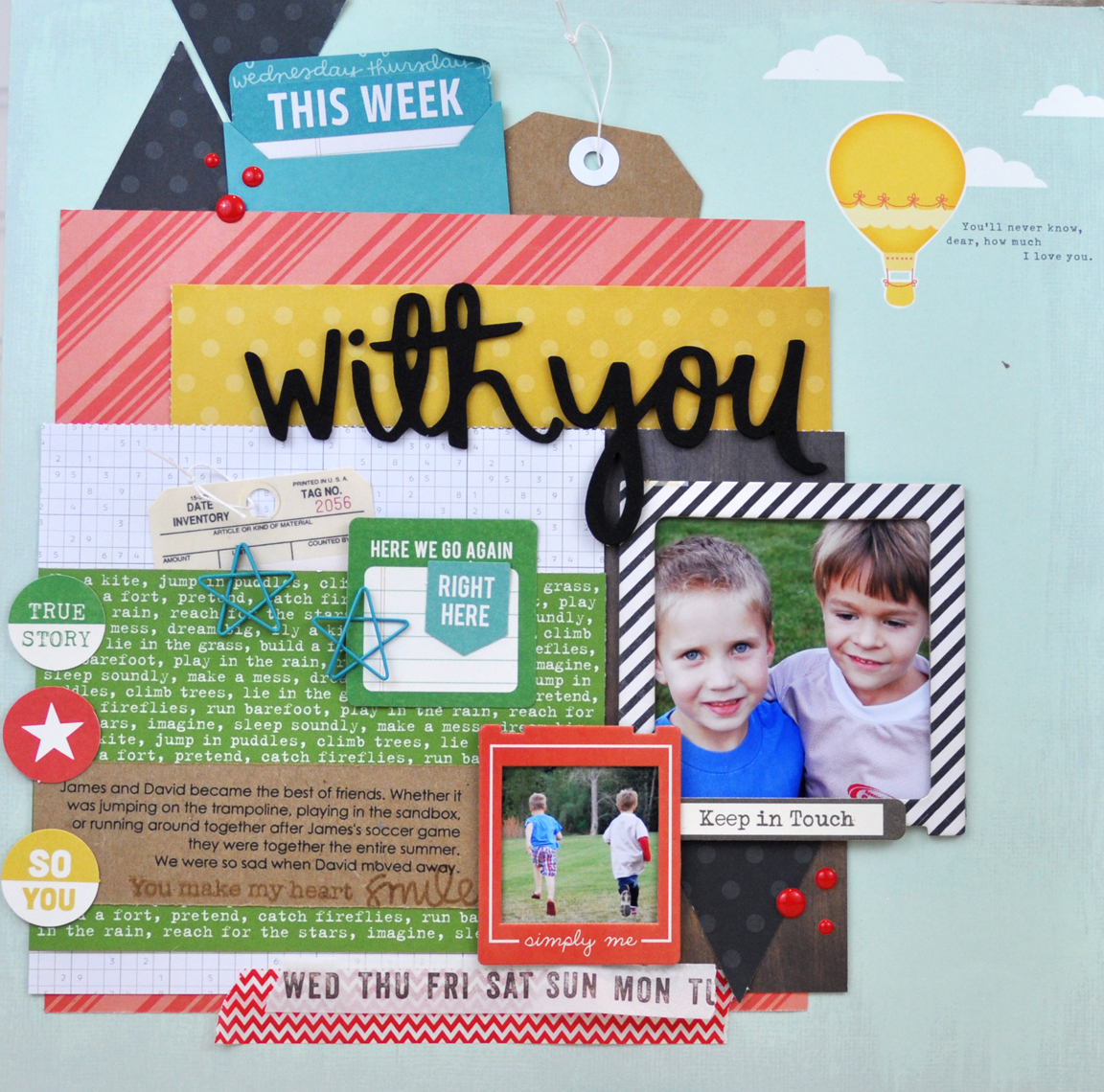 With You Memories Made #scrapbookingprocessvideo by Jen Gallacher at www.jengallacher.com
