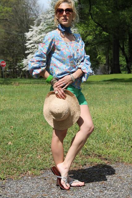 Kayce Hughes Top and Shorts, fibi & clo shorts, Gap Hat, Blinde Sunglasses