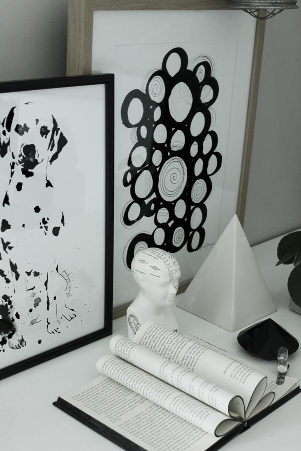 konsttryck, tavlor, tavla, svartvita prints, poster, posters, webbutik, webbutiker, webshop, nettbutikk, inredning, svart och vitt, svartvit, artprint, artprints, tavla, dalmatin, dalmatiner, hund, hundar, vitt, vit, vita, cirkel, cirklar, former, mönster, diamant, elefantöra, blomma, växt, växter, anneliesdesign